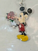 Vintage MICKEY MOUSE Holding Out Flowers Necklace Unsigned ~ Ships FREE