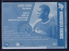 1998 Pacific Crown Royale RANDY MOSS ROOKIE printing plate 1/1 1-of-1 (B&BEnt)