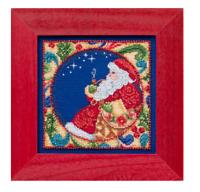 MILL HILL Counted Cross Stitch Beads Kit JIM SHORE Christmas Santa