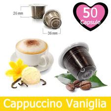 50 Capsule Caffè Kickkick Cappuccino alla Vaniglia Cialde Compatibili NESPRESSO