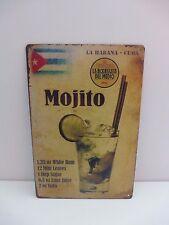 """Plaque Tolée """"Mojito"""" 30 cm X 20 cm Neuf Film Protection"""