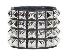 Pyramid Stud 4 Row Punk Rockers Gothic Bracelet Glam Thrash Heavy Metal