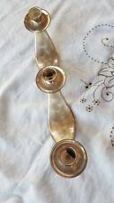 WMF-IKORA Vintage Silver Plated 3 Candle Holder Swirl Brushed Finish GERMANY