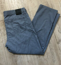 BRAX FEEL GOOD COOPER FANCY GRAY PANTS STRETCH CHINO JEANS SIZE 38 X 27