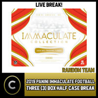 2019 PANINI IMMACULATE FOOTBALL 3 BOX (HALF CASE) BREAK #F367 - PICK YOUR TEAM