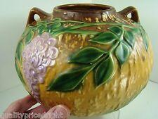 Roseville Pottery GORGEOUS 1933 Wisteria LARGE Vase Rose Bowl Rich Colors 637-6