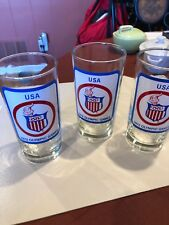 U.S.A. 1972 Olympic Games 5.5 inch drinking glasses