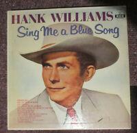 HANK WILLIAMS Sing Me a Blue Song ORIGINAL MGM RECORDS VINYL LP PRESS/E3560 VG+