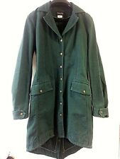 PATRIZIA PEPE Firenze green denim jean cotton coat jacket Italy size 42