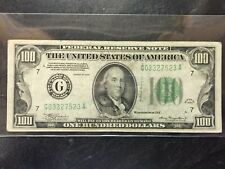 1934 $100 DOLLAR UNITED STATES FEDERAL RESERVE NOTE FINE