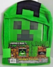 Minecraft HOODED PONCHO TOWEL Creeper Bath Pool Beach Childs green Super Soft