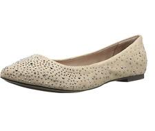 Zigi Soho Star Embellished Flats Cream Beige Tan Womens Tilly Ballet Flat Point