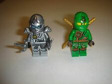 2 Lego Ninjago LLOYD ZUKIN ROBE Green Nija &Titanium Zane Minifigures 2015 lot
