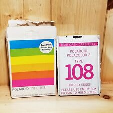 Polaroid Type 108 Polacolor Land Film 8 Pri 00004000 nts Vintage In Box One Pack Expired