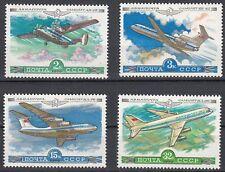Sowjetunion 4843 - 4846 postfrisch Flugzeuge der AEROFLOT