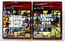 Grand Theft Auto V + GTA San Andreas - PS3 - Brand New | Factory Sealed