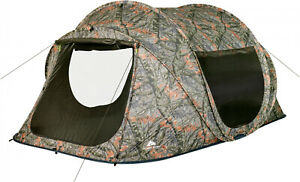 Ozark Trail 6 Person Pop Up Tent Seam-taped Rainfly Fiberglass Frame Poles