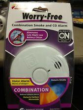 Smoke CO Alarm Kidde Voice Alarm Combination Carbon Monoxide Fire Smoke
