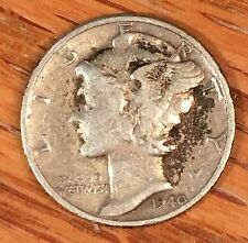 1940 Mercury Dime - From old Album - High Quality Scans #B751