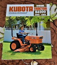 VTG Advertising 1984 Kubota Diesel Tractor B6200 2WD 4WD Brochure