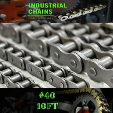 #40 Roller Chain - 10 Ft Includes 2 Free Connecting links - Xilin Usa