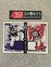 1999 LEAF ROOKIES & STARS DRESS FOR SUCCESS JERRY RICE RANDY MOSS GAME USED /100