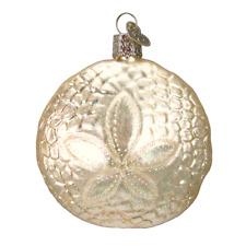Old World Christmas Sand Dollar (12156)X Glass Ornament w/ Owc Box