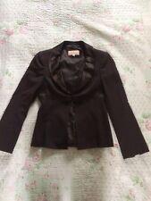 FENN WRIGHT MANSON Rich Chocolate Brown Pure Wool Blazer Jacket-sz 8 Hardly Worn