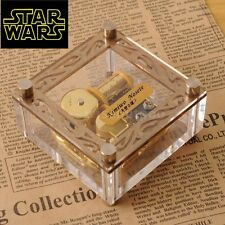 ACRYLIC CUBIC GOLD WIND UP MUSIC BOX : Star Wars - The Force Theme