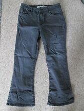 DENIM & Co - BLACK BOOTCUT COTTON/POLYESTER MID RISE Zip fly Jeans Size 14