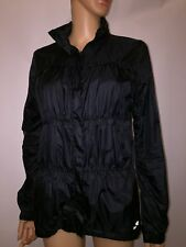 AVALANCHE Women's BLACK Ruffled Lightweight Warm Jacket Hooded Coat MEDIUM