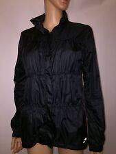 AVALANCHE Women's BLACK Ruffled Lightweight Warm Jacket Hooded Coat MEDIUM