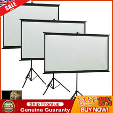 "Portable 50"" to110"" Tripod HD Projection Screen Matte Pull Down Projector Cinema"