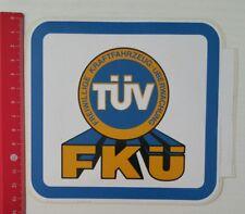 Aufkleber/Sticker: Freiwillige Kraftfahrzeug-Überwachung FKÜ - TÜV (060317156)
