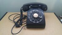 Vintage 1958 Western Electric Model 500 Rotary Dial Black Desk  Phone