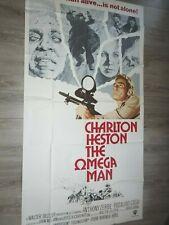 the omega man LE SURVIVANT charlton heston  affiche cinema u.s 1971  103x194cm