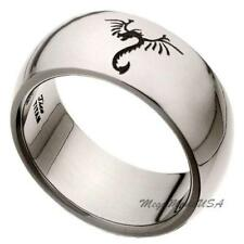 Legend Dragon Comfort Fit Wedding Band Engagement Titanium Ring Men Jewelry Sz8