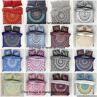 Mandala Indien Housse de Couette Literie Coton Simple Taille Doona Lit Set