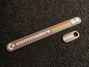 Commodore C64 Color Label / Aufkleber / Sticker / Badge / Logo 11 x 1,1cm [241d]