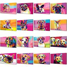 DOGS CANVAS PRINT PICTURE WALL ART COLLECTION POP ART FREE FAST DELIVERY