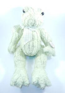Bearington Baby Leap Frog Green Soft Furry Plush Stuffed Animal BEAUTIFUL NEW!