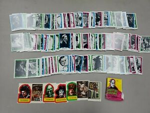 Lot of (178) 1980 Topps Creature Feature Cards with Stickers & Wrappers