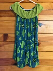 Kickee Pants Seagrass Cactus Summer Short Romper Girls Size 4T
