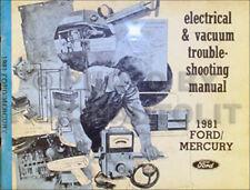 1981 LTD Crown Victoria Grand Marquis Electrical Troubleshtg Manual Ford Mercury
