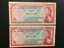 EAST CARIBBEAN STATES  (2 Notes)  1 Dollar 1965