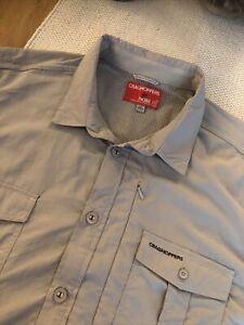 Mens Craghoppers Nosilife Shirt Beige Long Sleeved Excellent Xxl