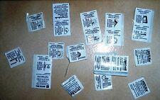 ca 20 Mc Donalds Memory Sticker Gewinne Preise Aufkleber