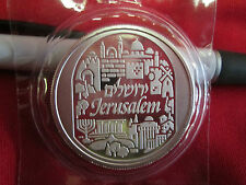 2 Ounce .999 Fine Silver Bullion Round  City of Peace Jerusalem Holy Land Mint