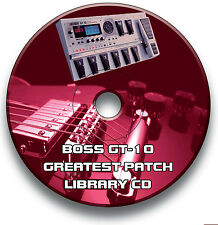 BOSS GT-10 PRE-PROGRAMMED GT10 PATCHES GUITAR EFFECTS PEDALS CD