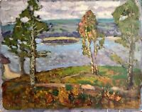 painting art vintage Fashchenko Landscape impressionism decor Autumn collection